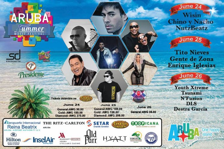9e50eb6fc The Aruba Summer Music Festival headlines with award winning musicians and  the best local Dj s and bands.This three day event takes place at Aruba s  Harbor ...